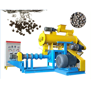 Steam type fish feed extruder