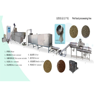Dog cat pet feed production line