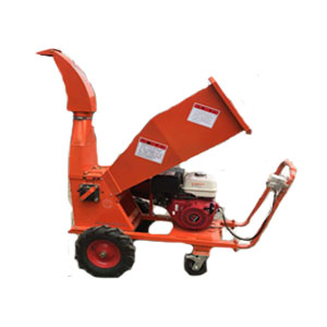 Small diesel engine mobile wood chipper