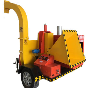 Large type diesel engine mobile tree branch chipper machine
