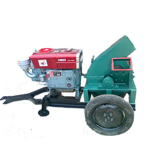 Disc type wood chipper