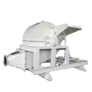 Wood log sawdust crusher