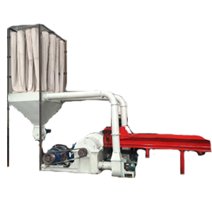 Double feed inlet wood crusher