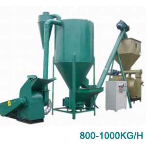800-1000kg/h small animal feed line